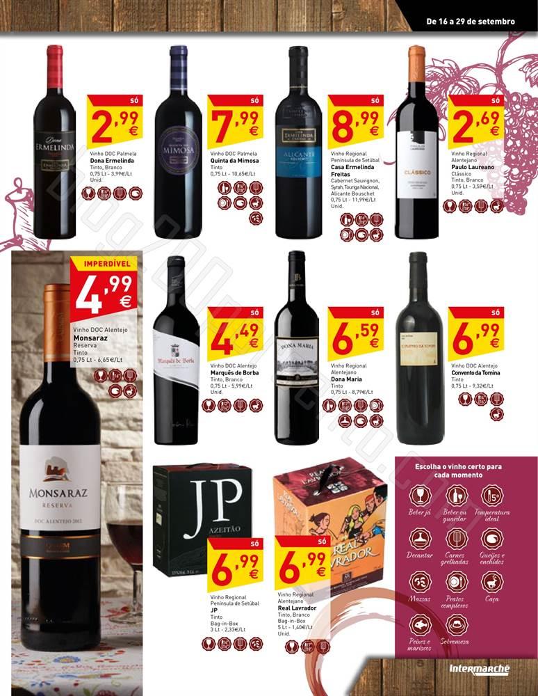 Antevisão Folheto INTERMARCHÉ vinhos, queijos e enchidos 16 a 29 setembro